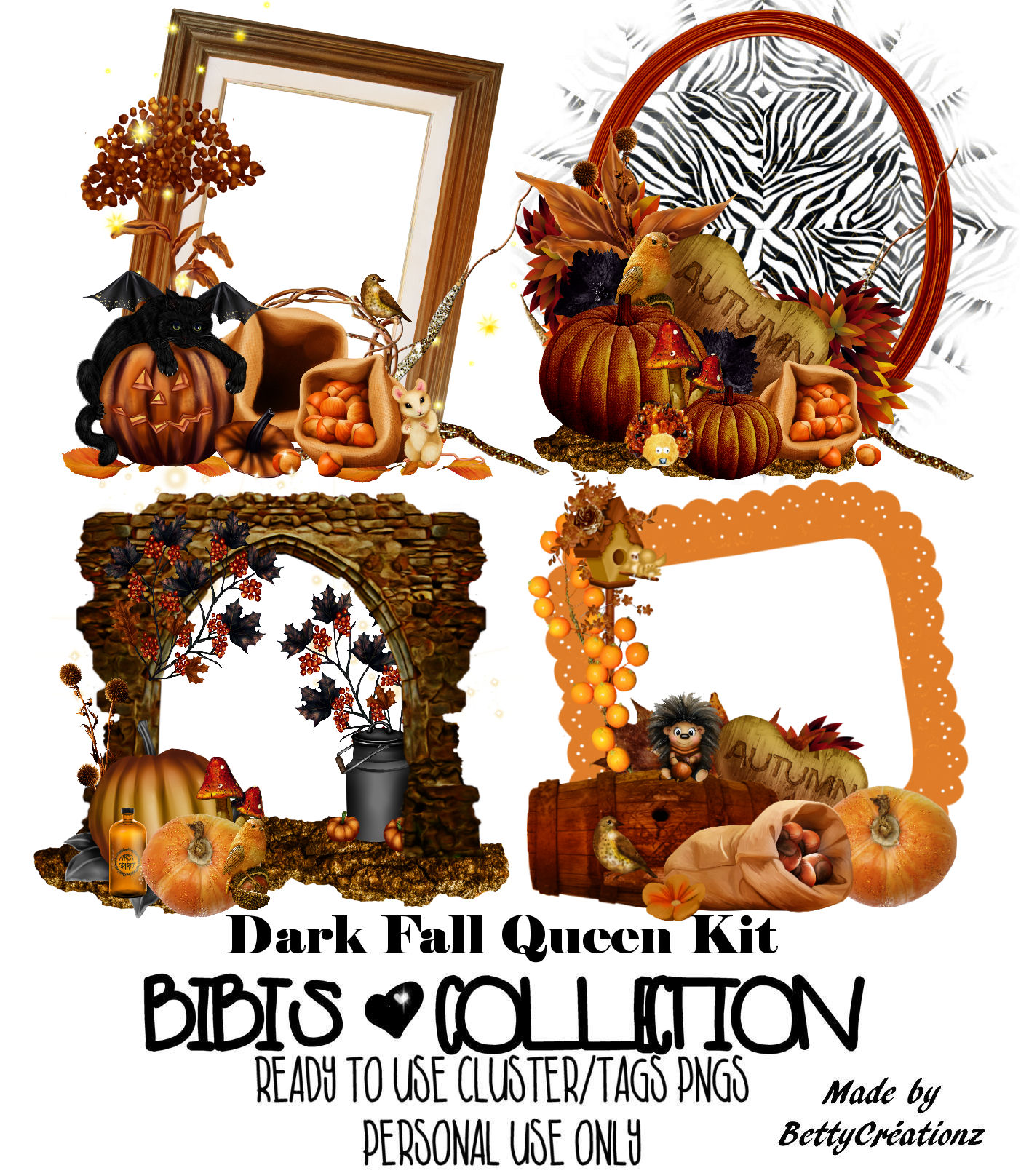DARK FALL READY CLUSTER TAGS PNG